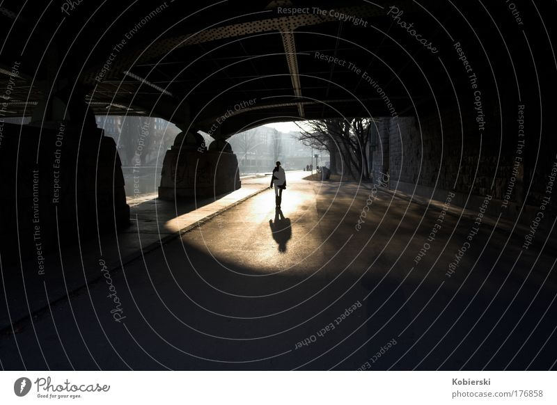 Human being Relaxation Movement Happy Sadness Going Bridge Transience Tunnel Capital city Inspiration Austria Pedestrian Vienna