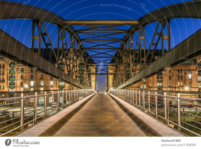 Vacation & Travel City Architecture Tourism Dream Bridge Hamburg Historic Logistics Harbour Tourist Attraction Landmark Tradition Old town Museum