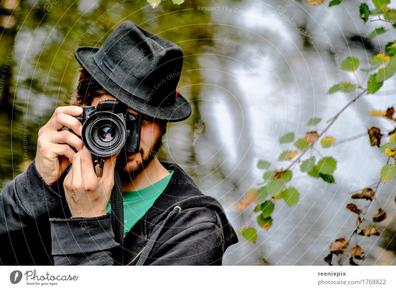 photographer Human being Masculine Man Adults 1 18 - 30 years Youth (Young adults) Artist Nature Tree Forest Looking Green Black Joy Cool (slang) Watchfulness