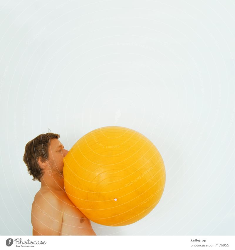 breakfast egg Colour photo Multicoloured Interior shot Studio shot Copy Space top Day High-key Upper body Profile Food Nutrition Lifestyle Ball Masculine Man