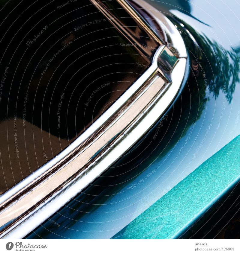 classic Colour photo Detail Lifestyle Elegant Transport Means of transport Passenger traffic Motoring Car Vintage car Glass Metal Driving Old Green Mobility
