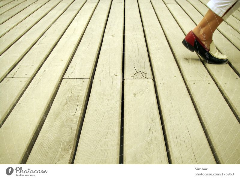 Human being Adults Movement Wood Style Legs Feet Going Footwear Walking Design Floor covering Wooden board