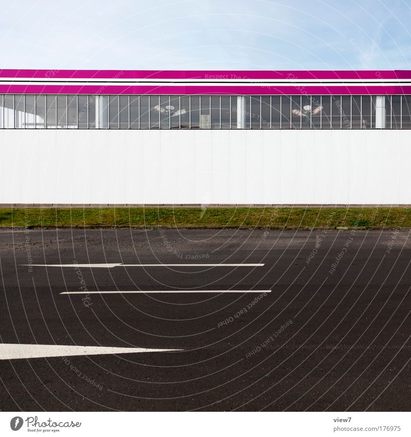 SUPER retail market Colour photo Multicoloured Exterior shot Deserted Copy Space middle Day Deep depth of field Long shot Workplace Factory Trade Logistics