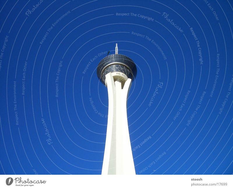 Sky Blue Architecture Tall USA Tower Las Vegas