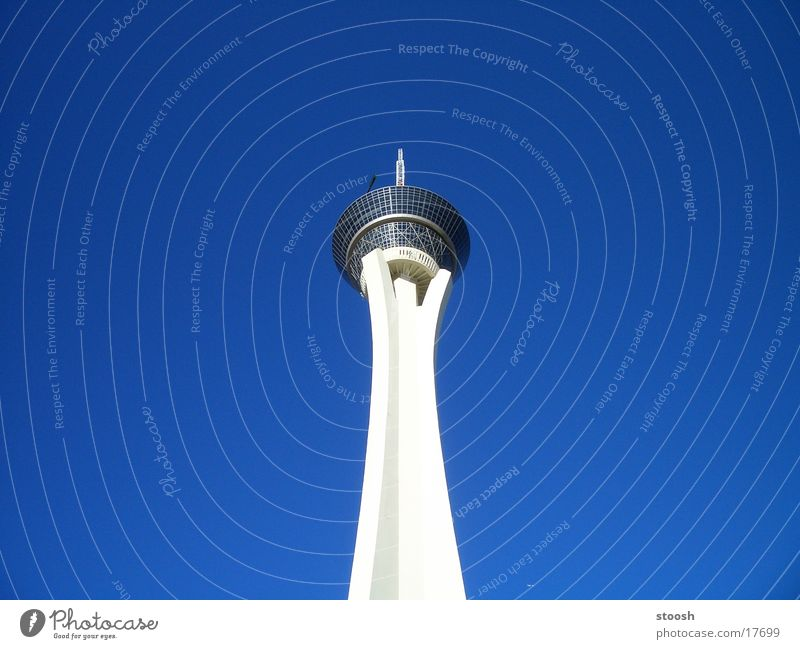 stratrosphere Las Vegas Architecture USA Sky Blue Tall Tower
