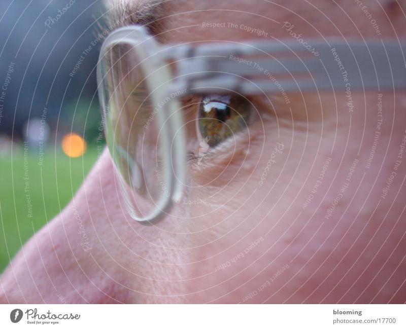 deep look Masculine Eyeglasses Deep Man Eyes Looking Close-up
