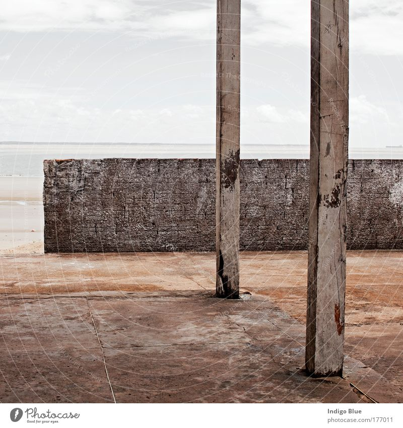 Beach House Exterior shot Deserted Morning Central perspective Sao Luiz Brazil South America House (Residential Structure) Hut Architecture Wall (barrier)