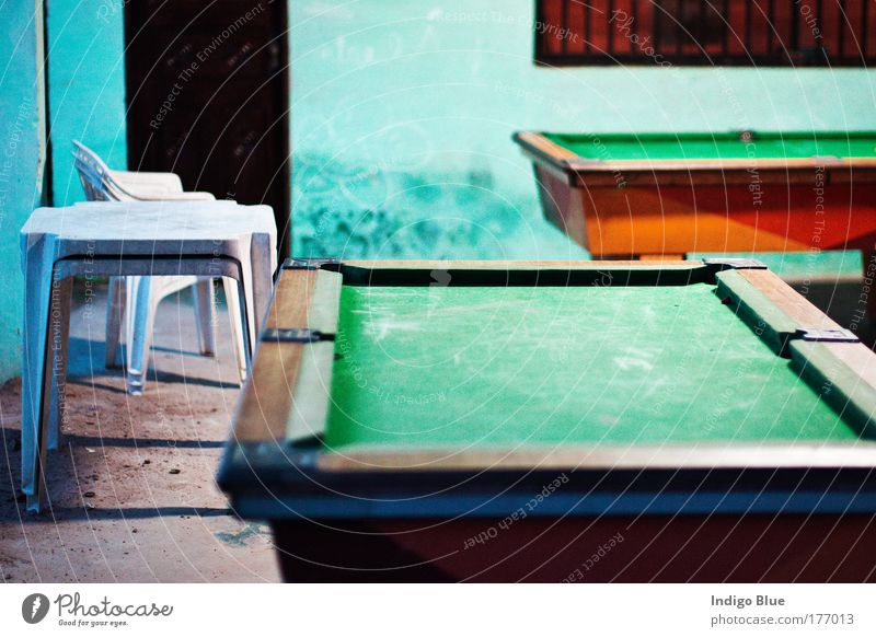 Snooker Colour photo Multicoloured Exterior shot Abstract Deserted Dawn Evening Twilight Blur Central perspective Playing Beach Beach bar Sao Luiz Brazil