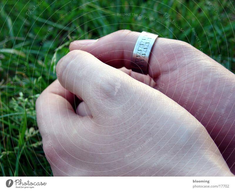 hands Hand Masculine Meadow Green Fist Man Circle