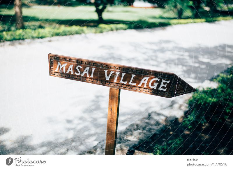 Vacation & Travel Lanes & trails Signs and labeling Discover Village Africa Vacation photo Vacation destination Tansania Zanzibar