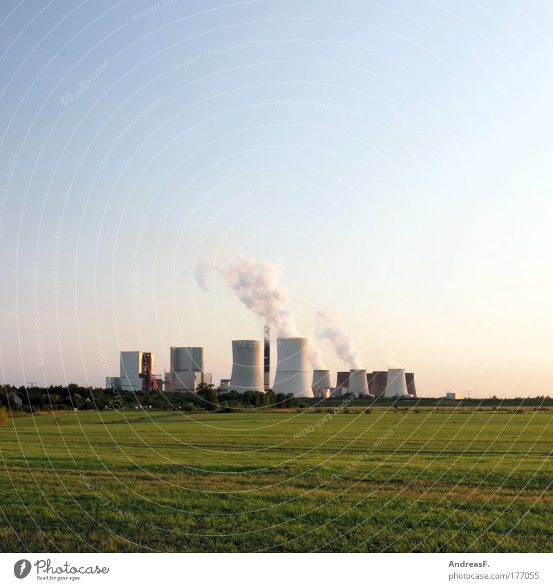 Nature Landscape Field Environment Energy industry Electricity Climate Manmade structures Chimney Environmental protection Environmental pollution