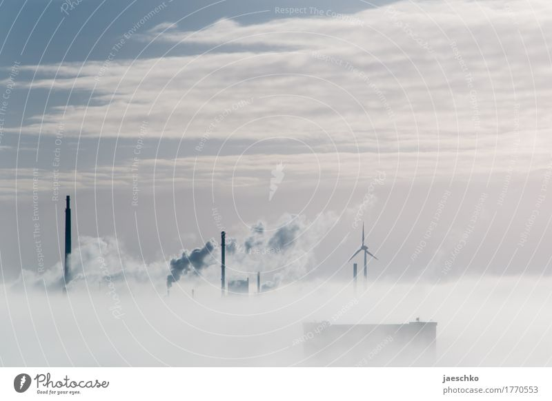 Sky City Landscape Clouds Horizon Weather Fog Growth Climate Beautiful weather Change Skyline Smoke Factory Economy Chimney