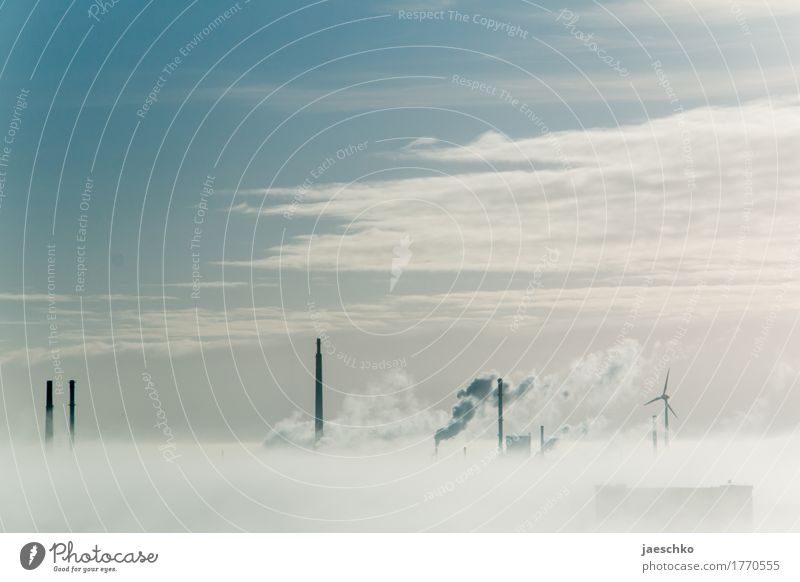 Sky Clouds Environment Weather Fog Energy industry Future Industry Infinity Skyline Smoke Factory Wind energy plant Economy Chimney Climate change