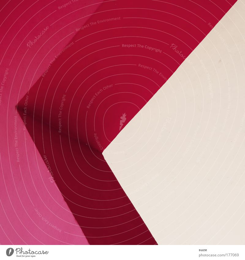 grotesque Style Design Art Wall (barrier) Wall (building) Facade Stone Characters Line Arrow Illustration Sharp-edged Simple Modern Crazy Pink Architecture