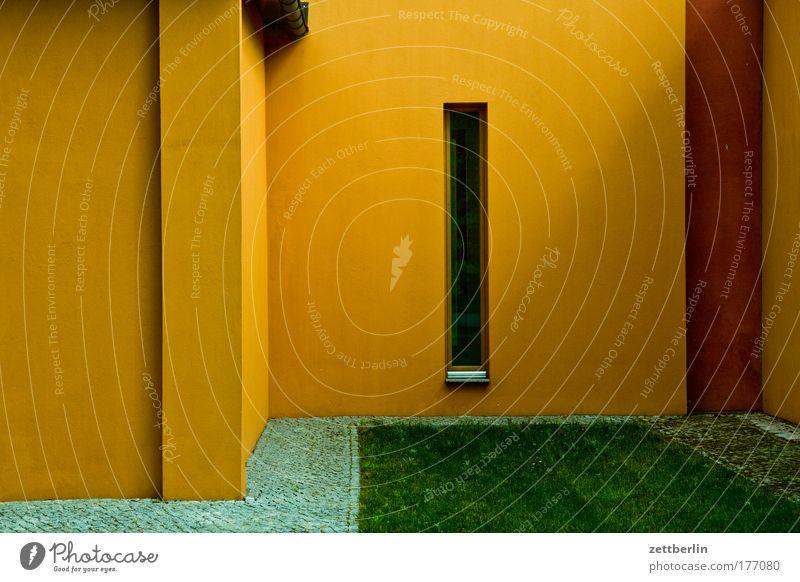 Yellow Window Building Architecture Corner Manmade structures Narrow Niche
