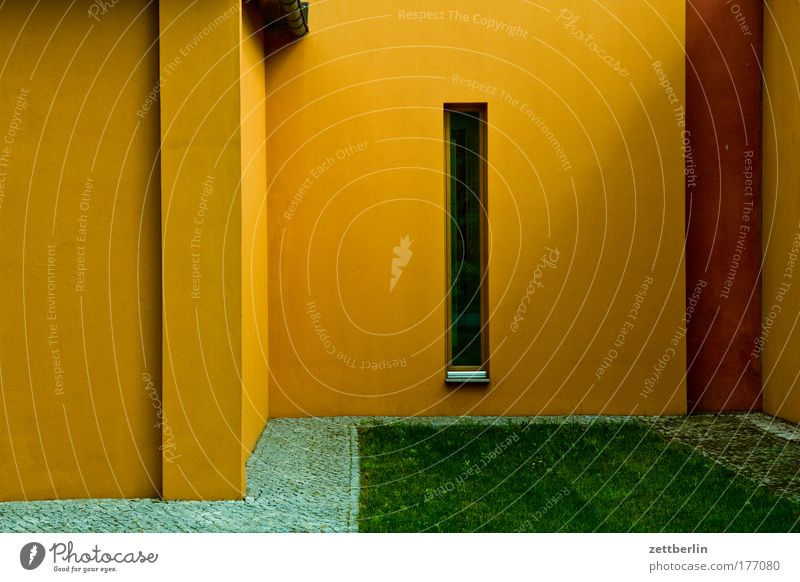 Yellow Window Building Architecture Corner Manmade structures Narrow Niche