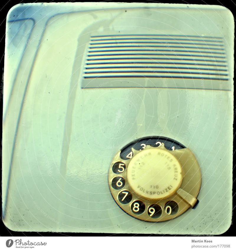 Old Style Telephone Change Retro Communicate Telecommunications Exceptional Digits and numbers Contact GDR Loudspeaker Politics and state Police Force