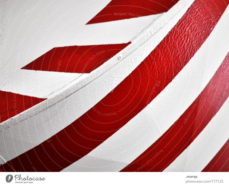 beacon Colour photo Abstract Pattern Style Design Metal Signs and labeling Line Stripe Simple Success Clean Red White Illustration Signal