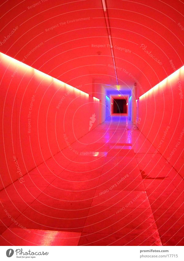 light tunnel Lamp Tunnel Colour Things Corridor Light Light art Art manner