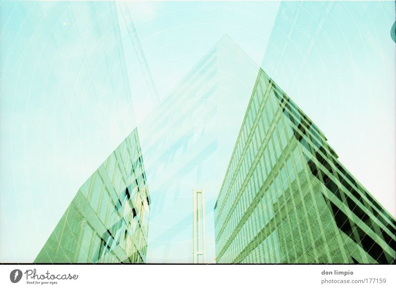 Green House (Residential Structure) Window Building Architecture Modern Living or residing Analog Balcony Manmade structures City Double exposure Reflection