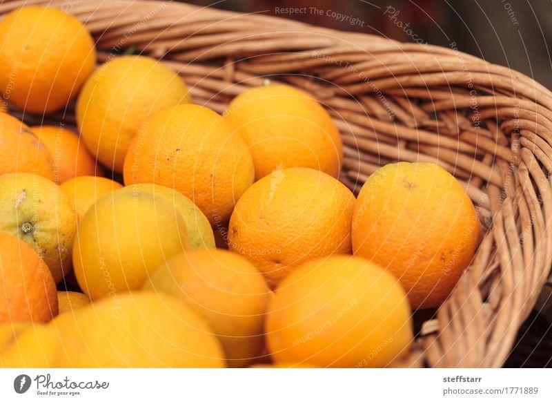 Fresh oranges in a fruit basket Food Fruit Orange Nutrition Breakfast Picnic Organic produce Vegetarian diet Diet Healthy Wellness Life Plant Yellow Gold