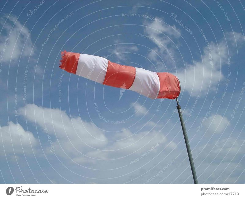 wind sleeve Leisure and hobbies Mountain Wind Gale Observe Hang Hiking Windsock Gust of wind squall Alps Weather Colour photo Exterior shot