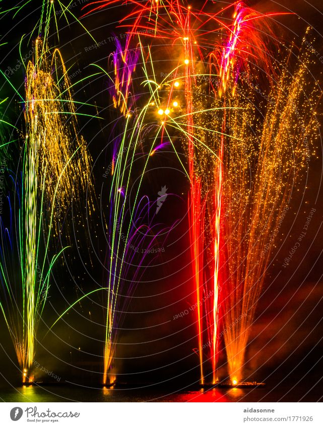 fireworks Night life Entertainment Party Event Music Feasts & Celebrations New Year's Eve Fairs & Carnivals Wedding Joy Happy Enthusiasm Colour photo Deserted