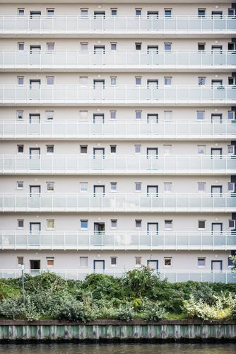City White House (Residential Structure) Architecture Berlin Building Facade Design Bright High-rise Esthetic Simple Clean Capital city Balcony Downtown
