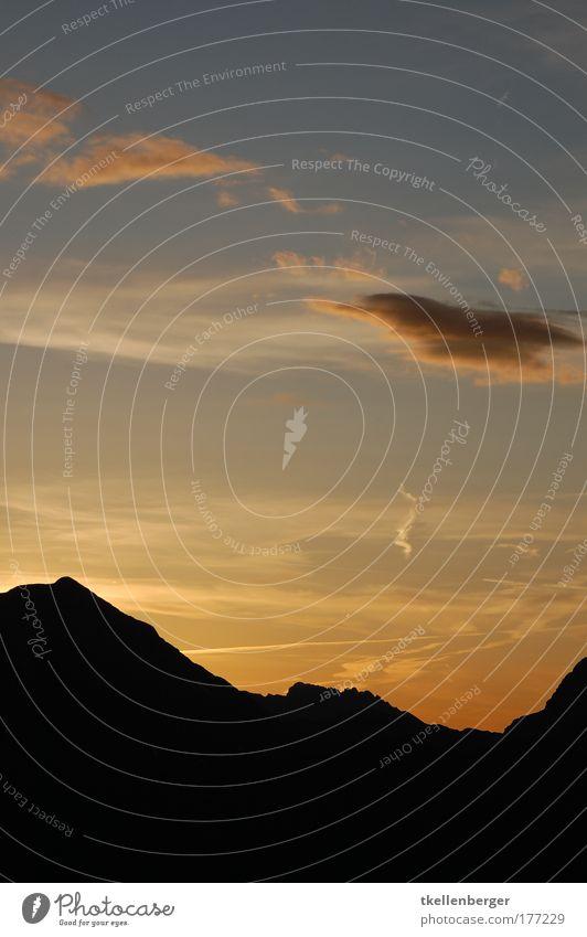 Sky Sun Blue Black Clouds Yellow Mountain Landscape Air Moody Gold Horizon Rock To enjoy Progress Color gradient