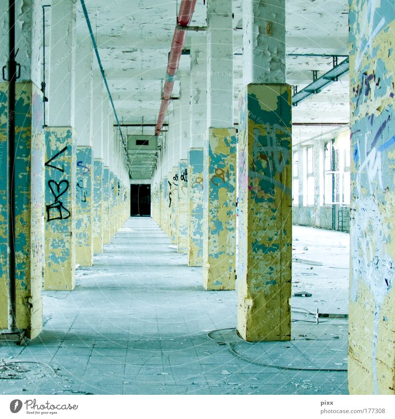 New York Hall Colour photo Interior shot Deserted Redecorate Closing time Factory Building Architecture Wall (barrier) Wall (building) Lanes & trails Concrete