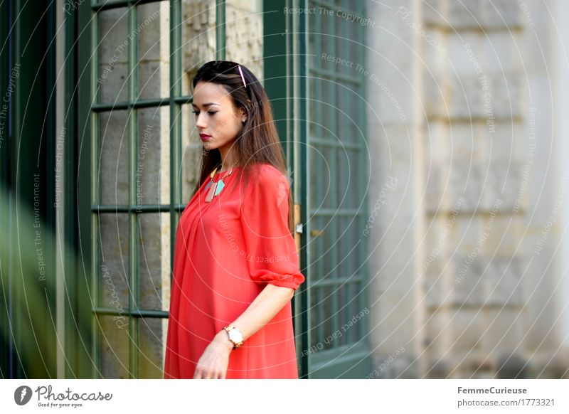 LadyInRed_1773321 Lifestyle Elegant Style Beautiful Feminine Young woman Youth (Young adults) Woman Adults Human being 13 - 18 years 18 - 30 years Fashion