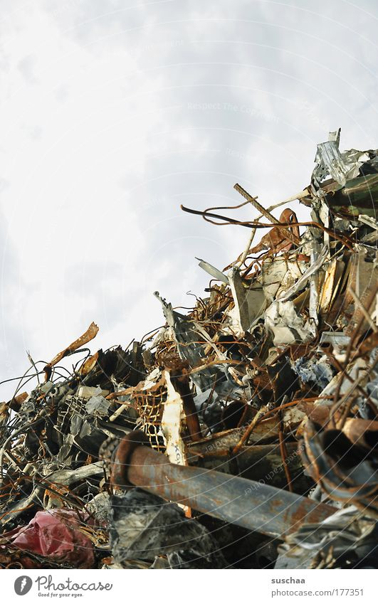 Metal Dirty Environment Threat Part Steel Rust Destruction Environmental pollution Fear of the future Scrapyard Throw away