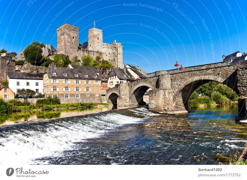 Castle and village Runkel an der Lahn Vacation & Travel Tourism Summer vacation Museum Nature Water Mountain River bank Weir Village Old town Bridge