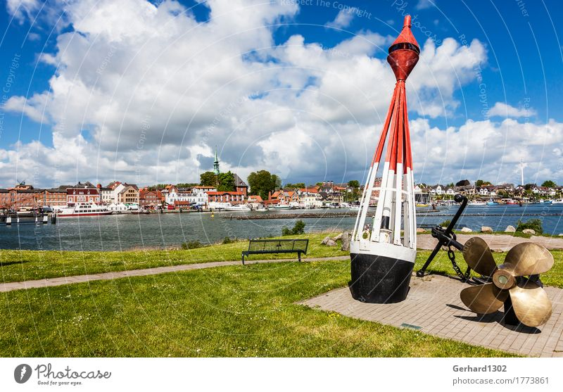 Port panorama from Kappeln an der Schlei Fishing (Angle) Vacation & Travel Tourism Trip Nature Water Summer Coast Fjord Baltic Sea Town Port City