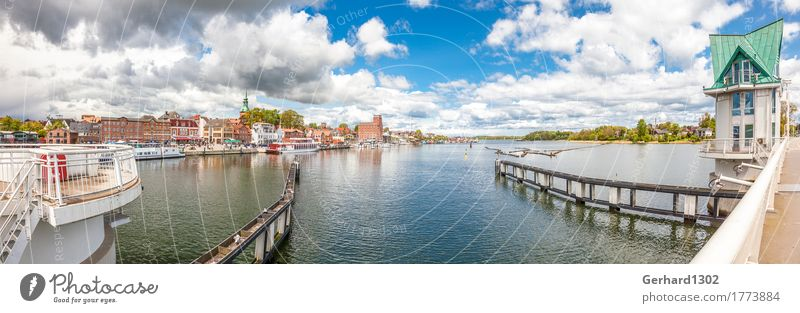 Port panorama in Kappeln from the bascule bridge at the Schlei Fishing (Angle) Vacation & Travel Tourism Trip Summer vacation Environment Water Coast Fjord
