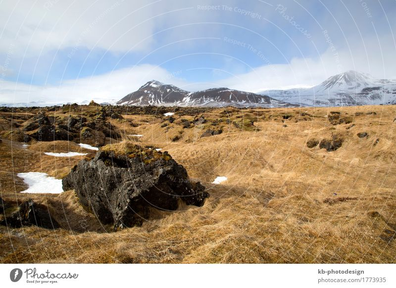 Countryside at peninsula Snaefellsnes in Iceland Vacation & Travel Tourism Adventure Far-off places Winter Snow Winter vacation Mountain Hiking Landscape