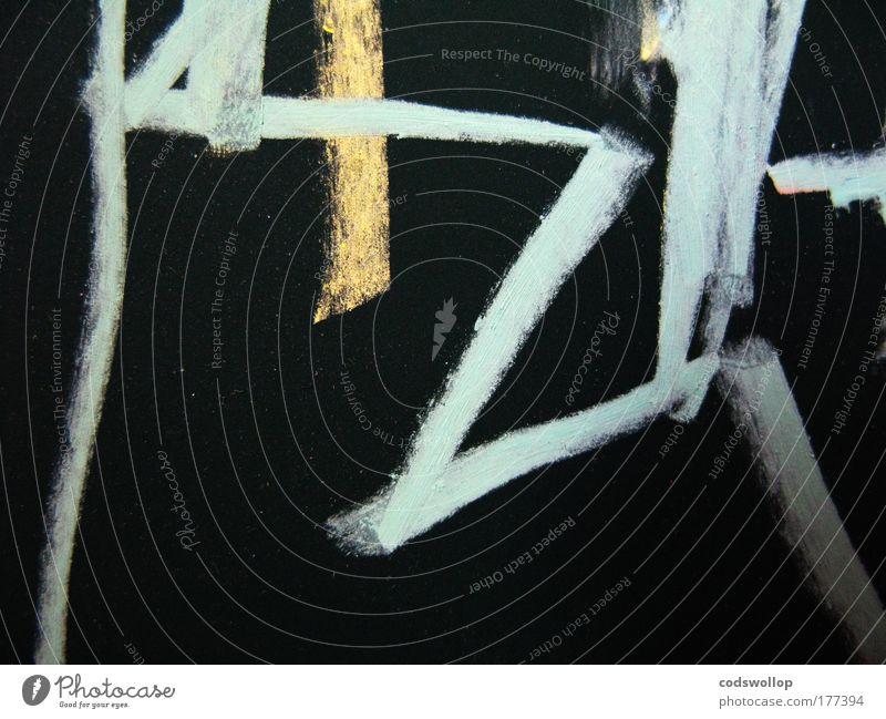 Black Yellow Art Esthetic Blackboard Creativity Painter Chalk Work of art Conceptual design Zigzag Light blue
