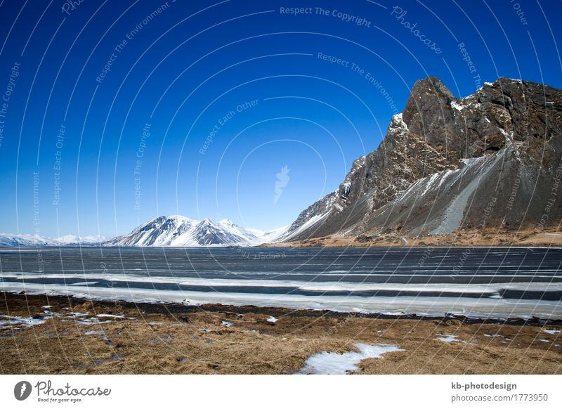 East coast of Iceland in wintertime Vacation & Travel Tourism Adventure Far-off places Winter Snow Winter vacation Mountain Hiking Landscape Fjord east