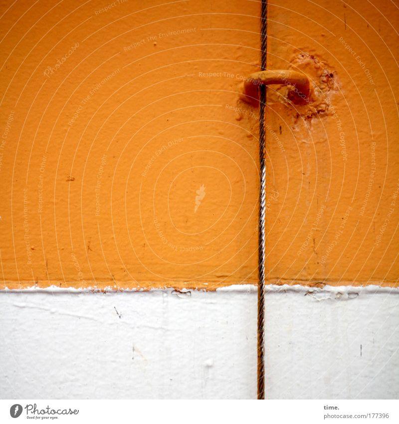 [KI09.1] - Trade secret Door Watercraft Ferry Metal Eyelet fissure Orange White colors color edge Stitching welded Varnish Checkmark Function functional