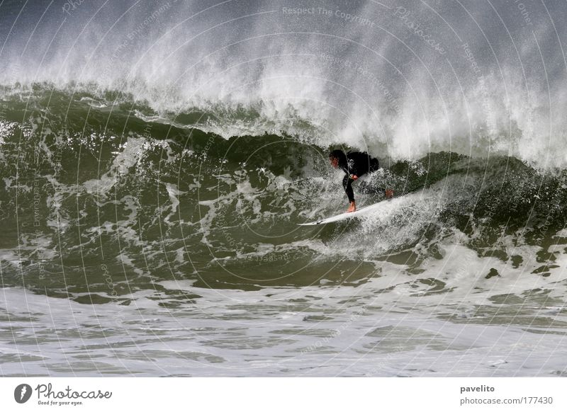 green room Colour photo Exterior shot Day Ocean Waves Aquatics Surfing Man Adults 1 Human being 18 - 30 years Youth (Young adults) Water Coast Reef Indian Ocean
