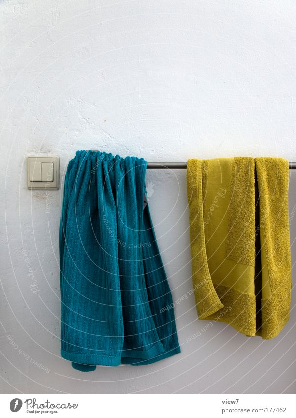 dry off Colour photo Multicoloured Interior shot Detail Deserted Copy Space top Deep depth of field Personal hygiene Interior design Decoration Room Bathroom