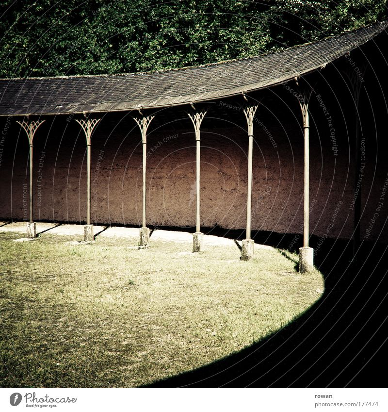 Old Summer Wall (building) Grass Garden Wall (barrier) Park Building Warmth Room Architecture Circle Places Retro Round