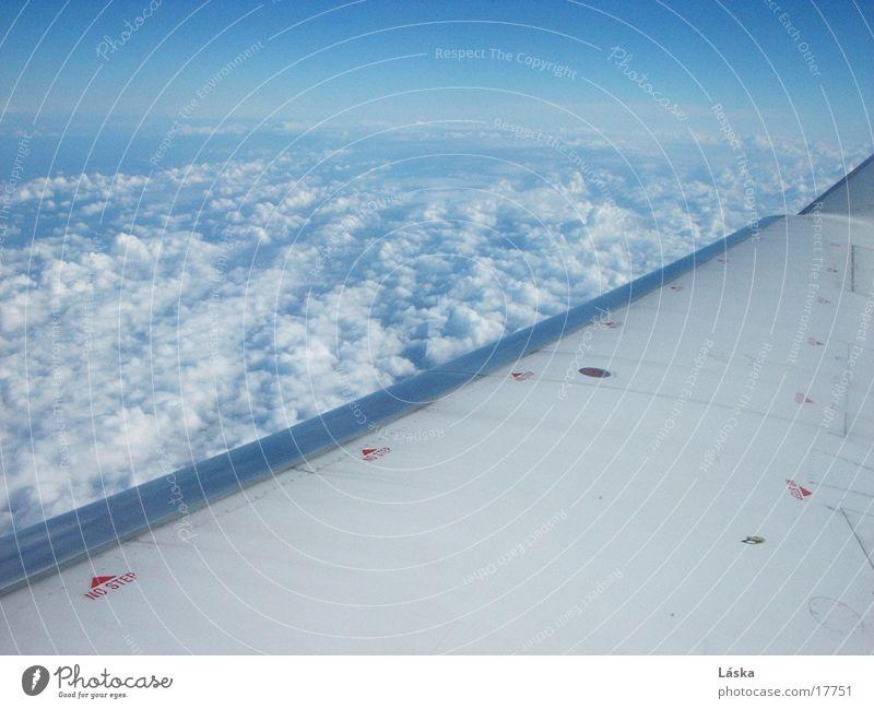 clouds Clouds Airplane In transit Sky