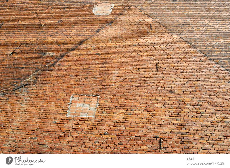 Red House (Residential Structure) Wall (building) Stone Wall (barrier) Construction site Transience Manmade structures Tracks Brick Craftsperson Redecorate