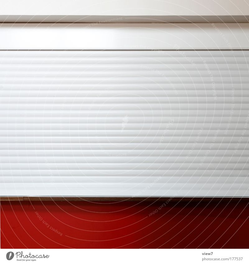 Beautiful Red House (Residential Structure) Cold Wall (building) Stone Wall (barrier) Metal Bright Line Room Door Elegant Concrete Facade Design