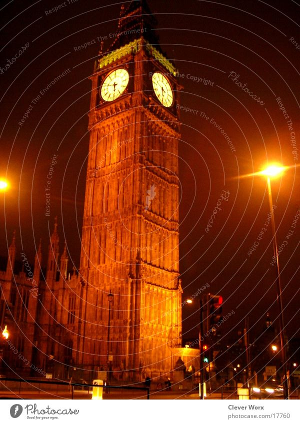 Big Ben London Night Lighting Great Britain Architecture