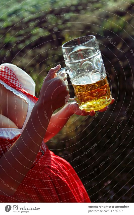 Woman Summer Breasts Esthetic Beverage Drinking Dress Gastronomy Beer Services Alcoholic drinks Costume Waiter Beer garden Beer mug Traditional costume