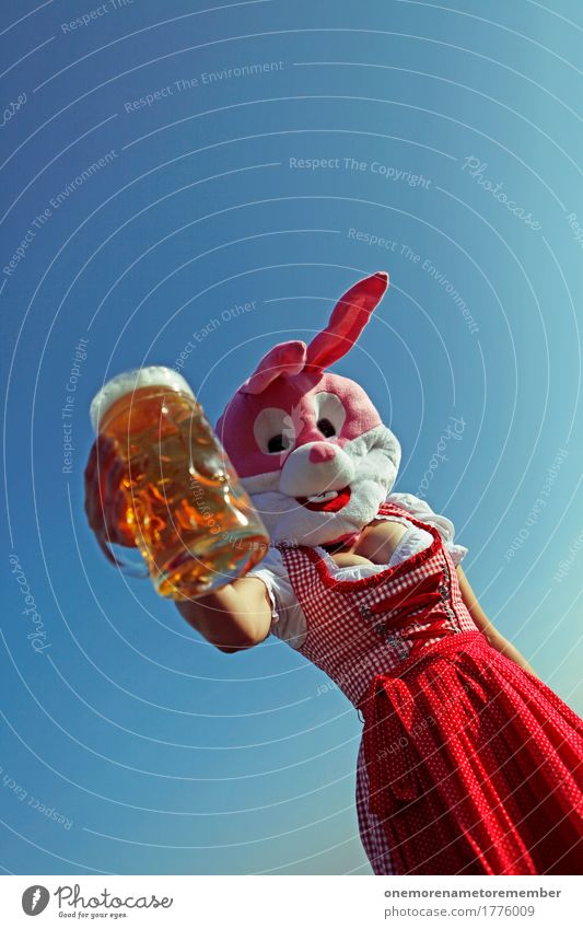 Oktoberfest - tap is! Food Lifestyle Art Esthetic Beer Beer garden Beer glass Froth Beer mug Traditional costume Costume Red Dress Bavaria Hare & Rabbit & Bunny