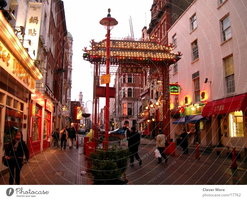 London china Town China Great Britain Architecture town Gate Chinatown