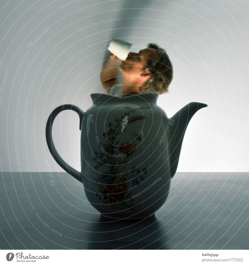 Human being Man Adults Head Table Decoration Beverage Lifestyle Coffee Drinking Wellness Hot Tea Fluid To enjoy Cup
